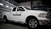 3M1080 Matte White Dodge Pick Up Wrap