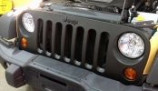 Jeep Wrangler Custom Wrapped Grill