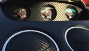 carbon fiber wrapped dashboard