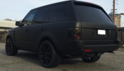 full custom matte black wrapped range rover