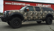 full custom mossy oak camo wrapped pickup truck